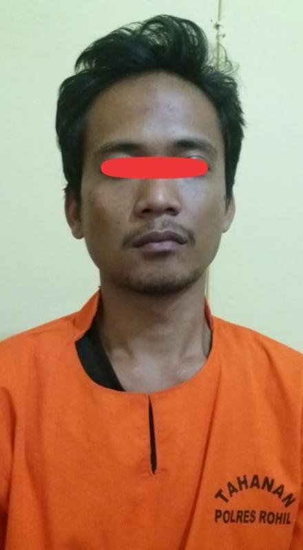 Seorang Buruh Bangunan Diciduk Satresnarkoba Polres Rohil, Saat Transaksi Sabu Digerbang Hotel Bestari Bagan Batu