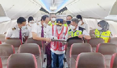 Budi Karya Sumadi Lakukan Ramp Check Batik Air