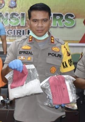 18 Bulan Jadi Kapolres Inhu, 319 TSK Narkoba Masuk Bui