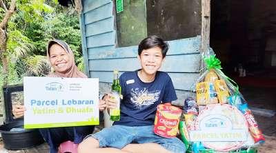 Parcel Lebaran Rumah Yatim untuk Ibnu Yatim Dhuafa Dibagikan di Pekanbaru