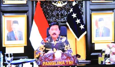 Pangdam XVII/Cenderawasih Ikuti Vicon Dengan Panglima TNI, Bahas Penanganan Covid-19 Pengamanan Natal Dan Tahun Baru