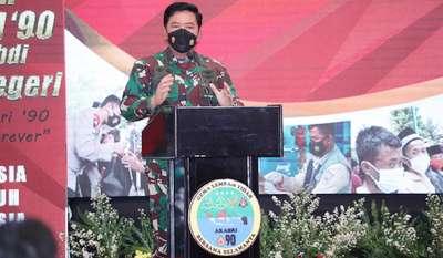 Panglima TNI Memberikan Pembekalan Langsung Kepada Para Alumni Akabri 90 di Tangsel