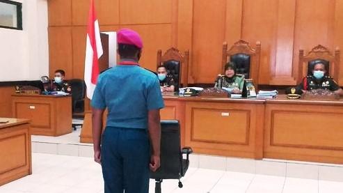 Berebut Pacar Berujung Tewas, Hakim Pengadilan Militer II-08 Jakarta Vonis Letda RW 12 Tahun