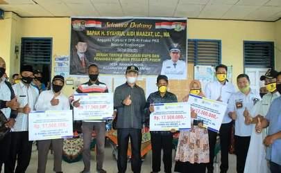 Pantau Program Hasil Perjuangannya, Syahrul Aidi Berkunjung ke Kampar
