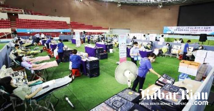 Ketiga Kalinya Empat Ribu Anggota Gereja Yesus Shincheonji Donasikan Plasma