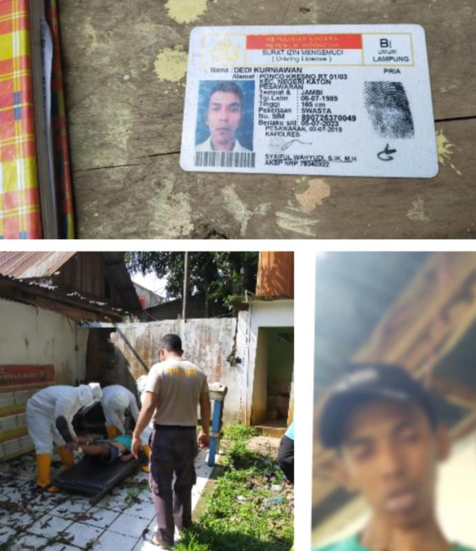 Nekat Gantung Diri Dibelakang Pos Polisi! Pria Bandar Lampung Akhiri Hidupnya