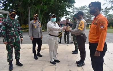 Kampar Lounching Pembagian Masker Serentak se Riau