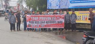 Di Tembilahan, Mahasiswa dan Ormas Sepakat Menolak Provokasi