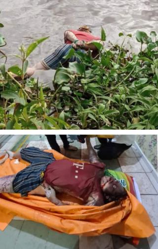 Viral..Ada Mayat Perempuan Dengan Tangan Terikat Mengapung Dipingiran Sungai Rokan